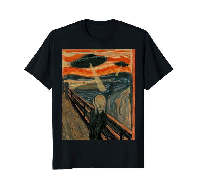 The Scream UFO t-shirt for art lovers that are into UFOs