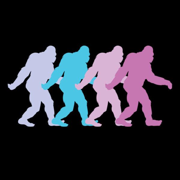 Pastel 80s Style Bigfoot  T-Shirt