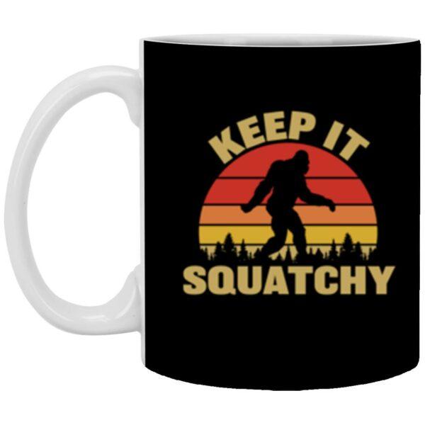Keep It Squatchy 11 oz. White Bigfoot Mug